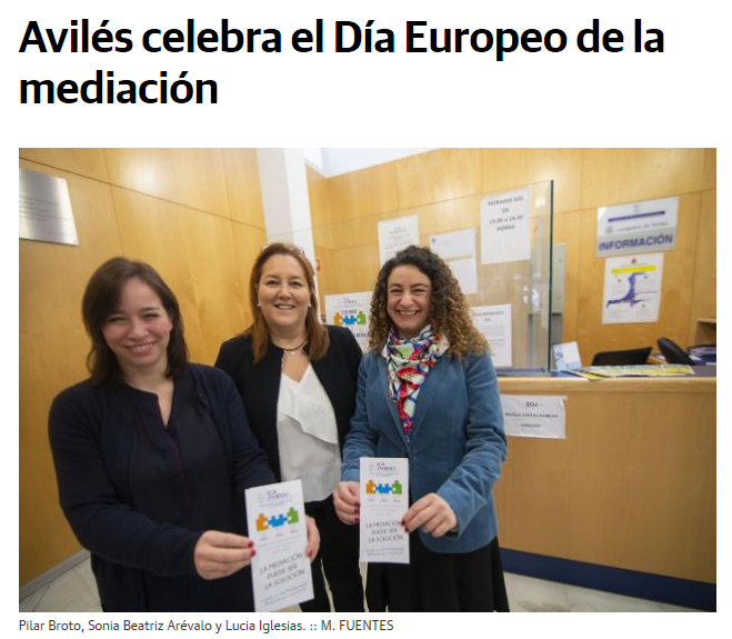 Avilés celebra el Día Europeo de la mediación